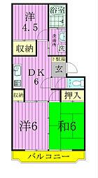 栗ヶ沢トゥエンティワン[2階]の間取り