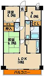 ライオンズマンション明石江井ヶ島[5階]の間取り