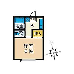 チェリーハイツ[1階]の間取り