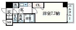JR東海道・山陽本線 三ノ宮駅 徒歩10分の賃貸マンション 6階1Kの間取り