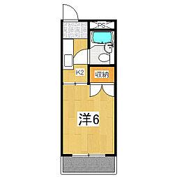 景勝ハイツ[301号室]の間取り