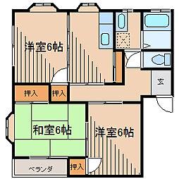 ゴールドハイツA[2階]の間取り