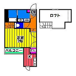 CB井尻ルヴニール[2階]の間取り