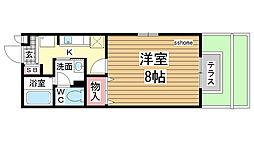 セジュール赤坂[101号室]の間取り