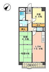 愛知県名古屋市名東区高針台1丁目の賃貸マンションの間取り