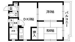 ハイローム北昭和II[102号室]の間取り