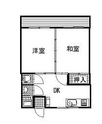 コーポ福田[2階]の間取り