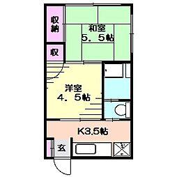 足立アパート[101号室]の間取り