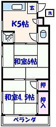 槇荘[2階]の間取り