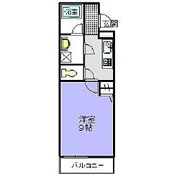 シエル金剛[2階]の間取り