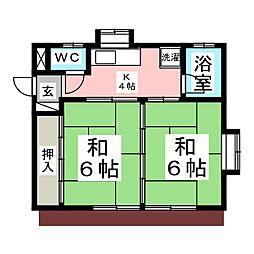 大友アパート[1階]の間取り