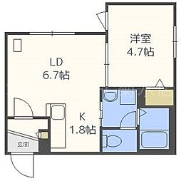 仮)東札幌1・6B[1階]の間取り