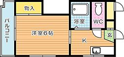 シャトレ三ヶ森[2階]の間取り