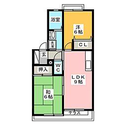 プレミール2000 B棟[1階]の間取り