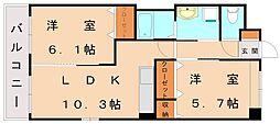 インペリアルコート[1階]の間取り
