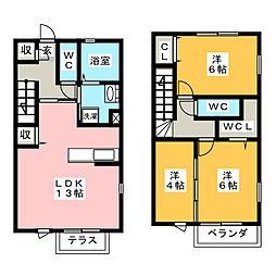 [テラスハウス] 愛知県名古屋市昭和区高峯町 の賃貸【/】の間取り