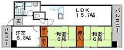 メゾンセルベイル[8階]の間取り