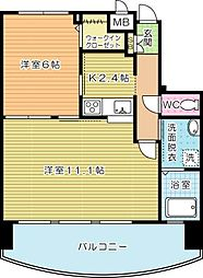 サンシャインプリンセス北九州[6階]の間取り