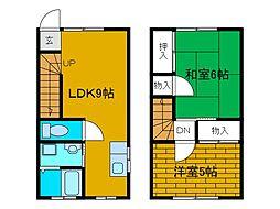 [テラスハウス] 神奈川県川崎市麻生区王禅寺西8丁目 の賃貸【/】の間取り