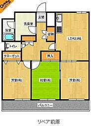 福岡県糸島市浦志3丁目の賃貸マンションの間取り
