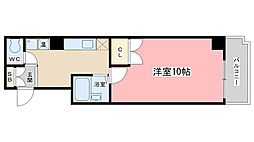 メディナ椥辻[7階]の間取り