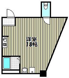 大阪府堺市堺区南安井町6丁の賃貸マンションの間取り