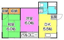 キャッスル増田[2階]の間取り