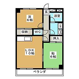 メゾンドニュースリー[3階]の間取り