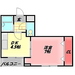アネックス・ナカノ 6階1DKの間取り