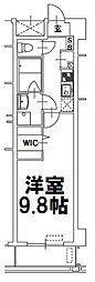 アクアスイート新大阪[6階]の間取り