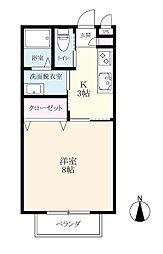 リッツハウス八戸溝II[101号室]の間取り