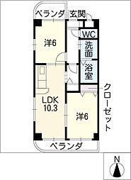 ソシア昭和[2階]の間取り