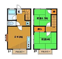 [テラスハウス] 東京都小平市津田町2丁目 の賃貸【/】の間取り