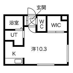 Positano W18(ポジターノダブル18)[2階]の間取り