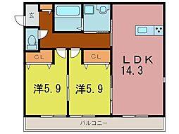 コンフォーティア[3階]の間取り