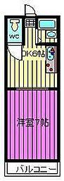 ハイツプリムラ[3階]の間取り