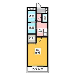 メゾンオリーブ[1階]の間取り