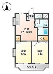 シャトーレ黒川[1階]の間取り