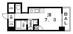 ティーズカレッジ近畿大学前(1R Cタイプ)[211号室号室]の間取り