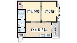 大阪府大阪市東淀川区東中島5丁目の賃貸マンションの間取り