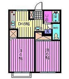 埼玉県さいたま市中央区桜丘2丁目の賃貸マンションの間取り