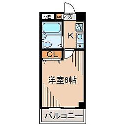 ジョイフル妙蓮寺[3階]の間取り
