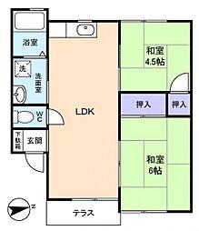 スターハイツ・E−I[1階]の間取り