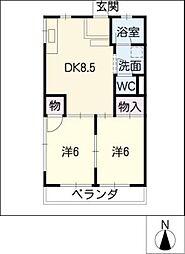 大樹ハイツ[2階]の間取り