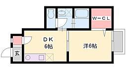 兵庫県小野市片山町の賃貸アパートの間取り