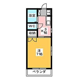 アーバンガーデンハイツIII[2階]の間取り