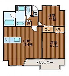 テゾーロ麻生柿生[6階]の間取り
