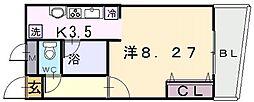ラ・フォンテ八戸ノ里[5階]の間取り