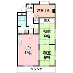 愛知県名古屋市天白区植田東2の賃貸マンションの間取り