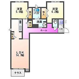 兵庫県明石市貴崎4丁目の賃貸アパートの間取り